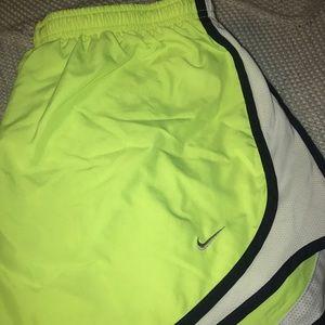 Neon Yellow Nike Shorts